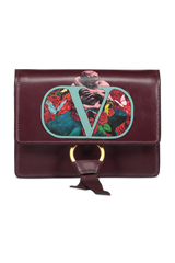 Front view image of Valentino Vring U Print Crossbody Rubin