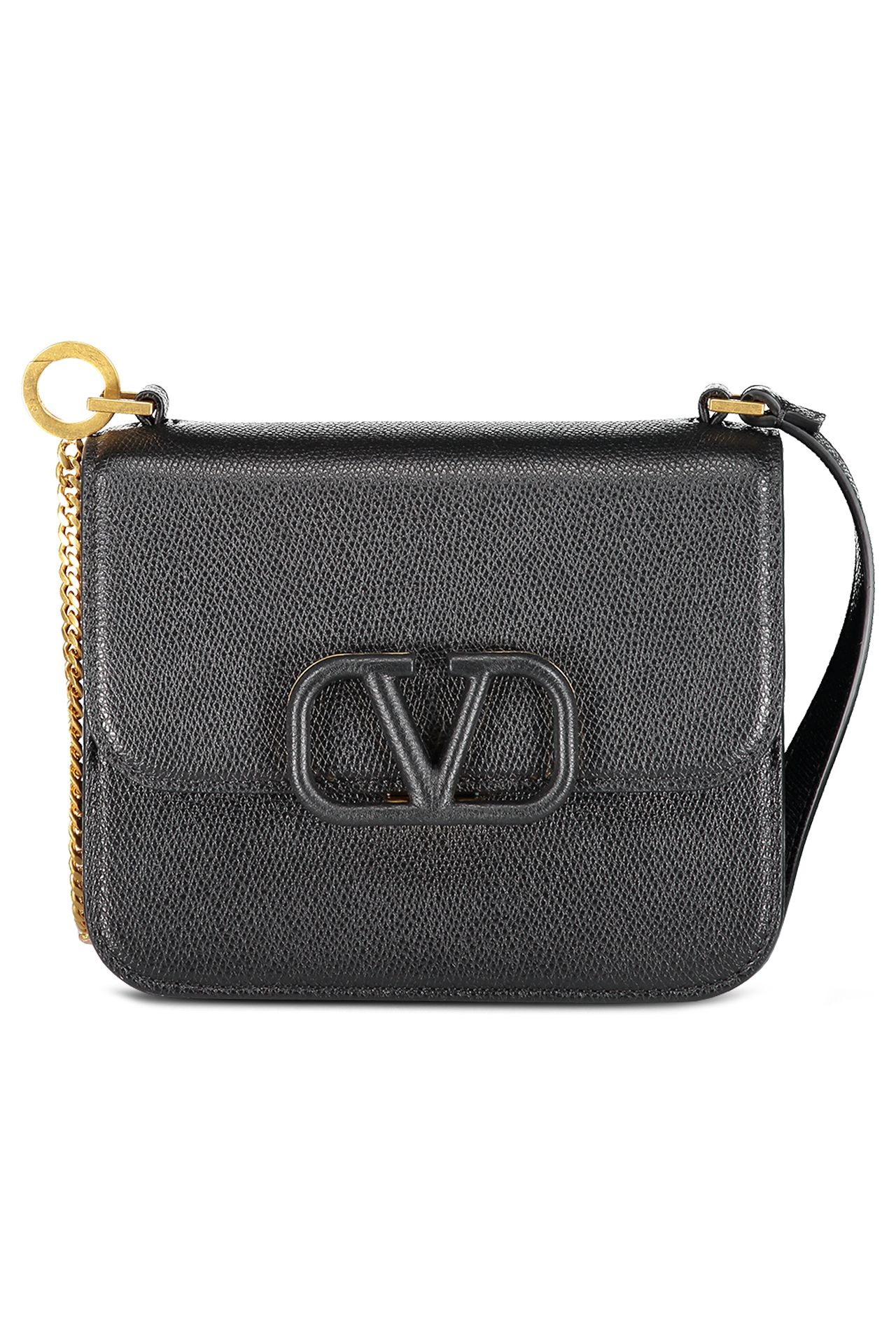 Side view image of Valentino Vsling Small Shoulder Bag Nero