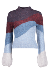 Front view image of Veronica Beard Alexey Crewneck Pullover