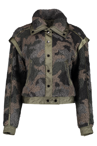 Front view image of Veronica Beard Anita Jacket Camo