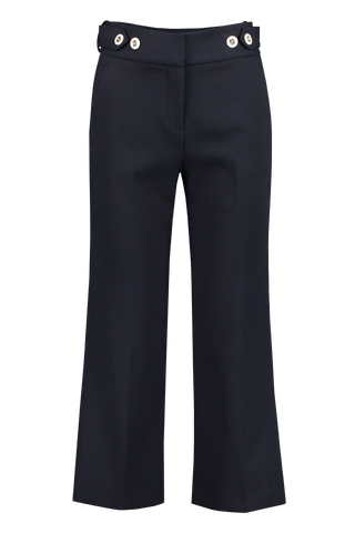 Front view image of Veronica Beard Aubrie Pant Navy