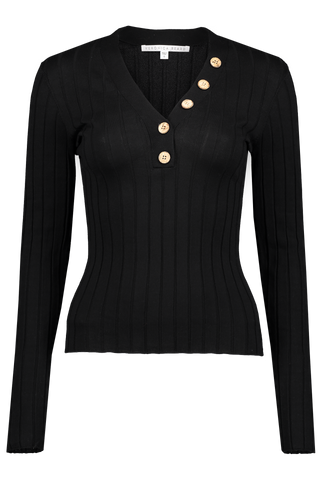 Front image of Veronica Beard Beaumont Sweater Black