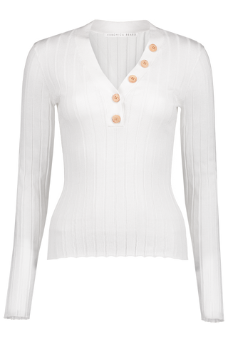 Front image of Veronica Beard Beaumont Sweater White