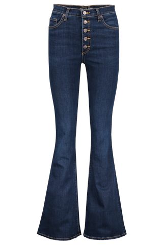 Front image of Veronica Beard Beverly High Rise Skinny Flare Exposed Fly