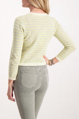 Back crop image of model wearing Veronica Beard Boise Sweater