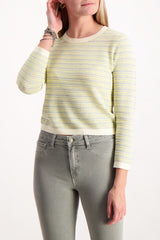 Front crop image of model wearing Veronica Beard Boise Sweater