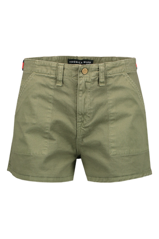 Front image of Mother Denim Caine Waist Tab Short