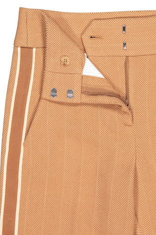 Clasp and zip closure detail image of Veronica Beard Cormac Trouser