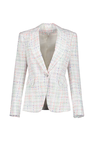 Front view image of Veronica Beard Cutaway Dickey Jacket