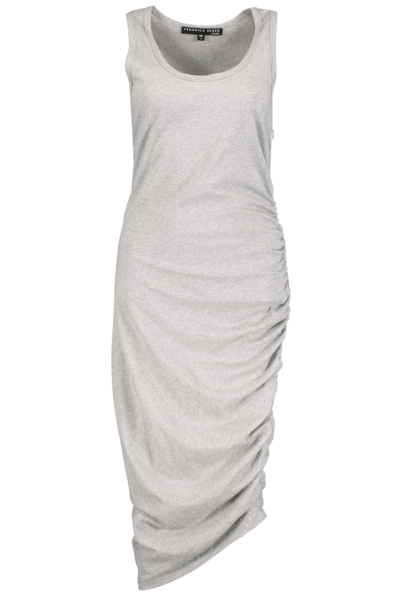 Front Image Decker Ruched Midi Dress