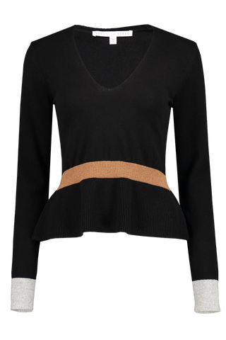Front image of Veronica Beard Dolores V-Neck Sweater