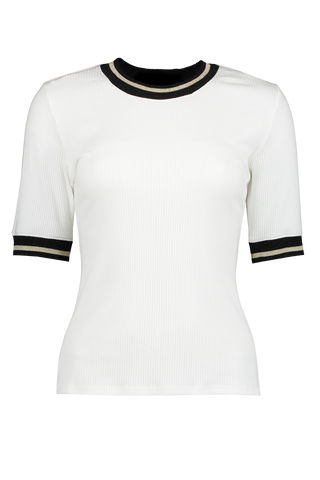 Front view image of Veronica Beard Ekland Tee White