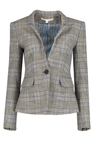 Front view image of Veronica Beard Farley Dickey Jacket Grey