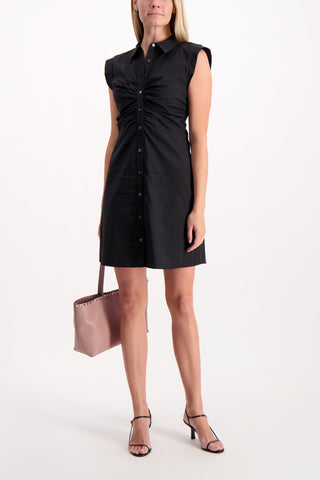 Full Body Image Of Model Wearing Veronica Beard Ferris Dress