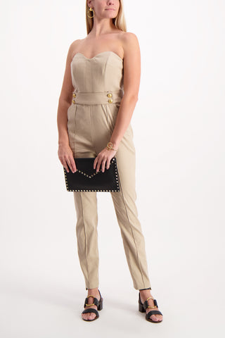 Full Body Image Of Model Wearing Veronica Beard Joanna Jumpsuit