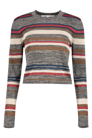 Front image of Veronica Beard Jora Cropped Pullover