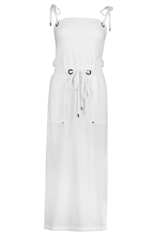 Front view image of Veronica Beard Women's Karla Dress White