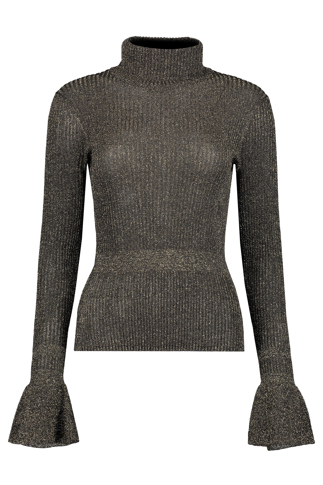 Front view image of Veronica Beard Women's Lilia Turtleneck Pullover Black