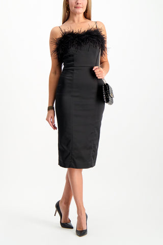 Full Body Image Of Model Wearing Veronica Beard Lilya Dress