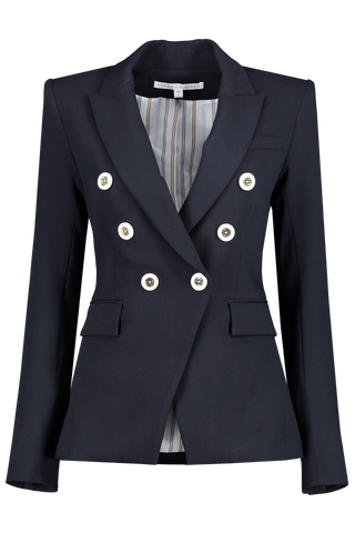 Front view image of Veronica Beard Miller Dickey Jacket Navy