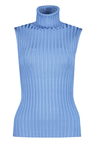 Front view image of Veronica Beard Women's Stefania Sleeveless Turtleneck