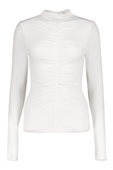 Front view image of Veronica Beard Theresa Turtleneck White