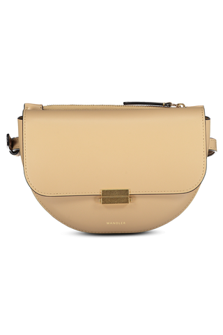 Front detail image of Wandler Anna Belt Bag Big Calf Leather Biscuit
