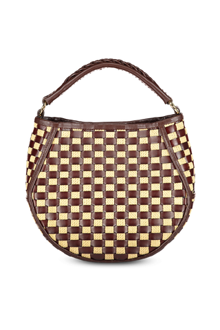 Front image of Wandler Corsa Bag Mini Leather Mix Basket