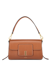 Front view image of Wandler Georgia Bag Calf Leather Tan