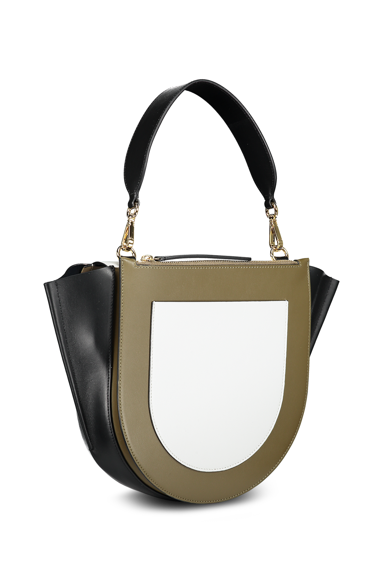 Back view with strap image of Wandler Hortensia Bag Medium Calf Leather Kombo Shades