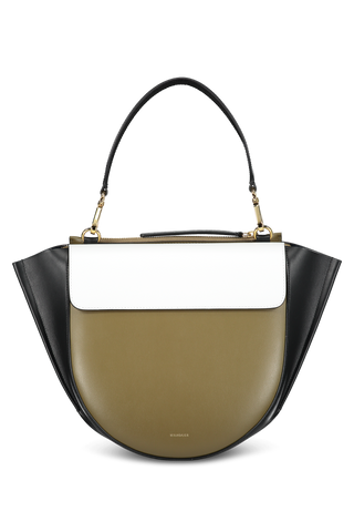 Front view image of Wandler Hortensia Bag Medium Calf Leather Kombo Shades