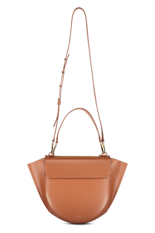 Front hanging image of Wandler Women's Hortensia Bag Medium Calf Leather Tan