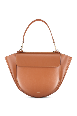 Front image of Wandler Women's Hortensia Bag Medium Calf Leather Tan