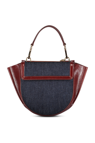 Front image of Wandler Women's Hortensia Bag Mini Calf Leather Syrup