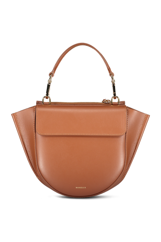 Front image of Wandler Hortensia Bag Mini Calf Leather Tan