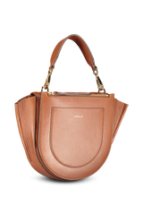 Back view image of Wandler Hortensia Bag Mini Calf Leather Tan Quilted