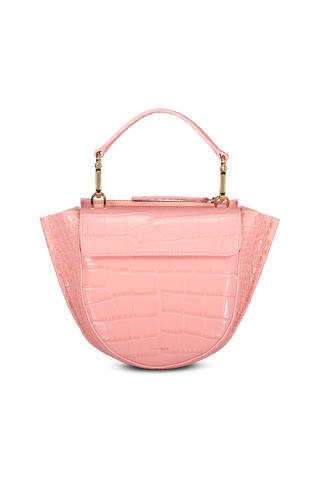 Front detail image of Wandler Hortensia Bag Mini Croco Calf Leather Blossom