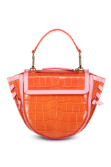 Front view image of Wandler Hortensia Bag Mini Croco Calf Leather