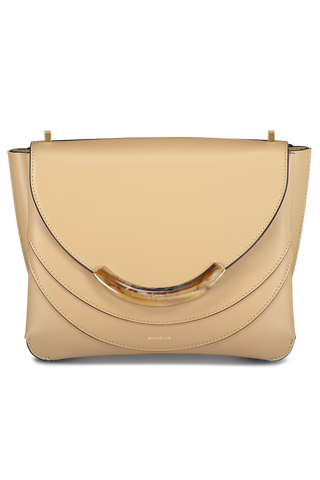 Front detail image of Wandler Luna Arch Bag Calf Leather Biscuit