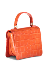 Back view image of Wandler Luna Mini Bag Croco Calf Leather Spicy