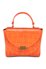 Front view image of Wandler Luna Mini Bag Croco Calf Leather Spicy
