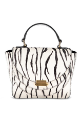 Front image of Wandler Luna Mini Calf Leather Zebra