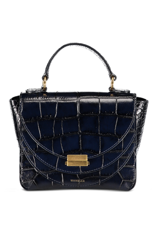Front image of Wandler Luna Mini Croco Leather Night