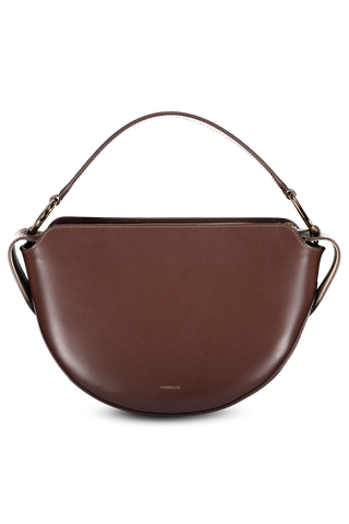 Front image of Wandler Yara Bag Big Calf Leather Fudge