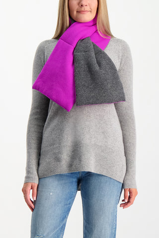 Puffer Scarf Charcoal/Pink