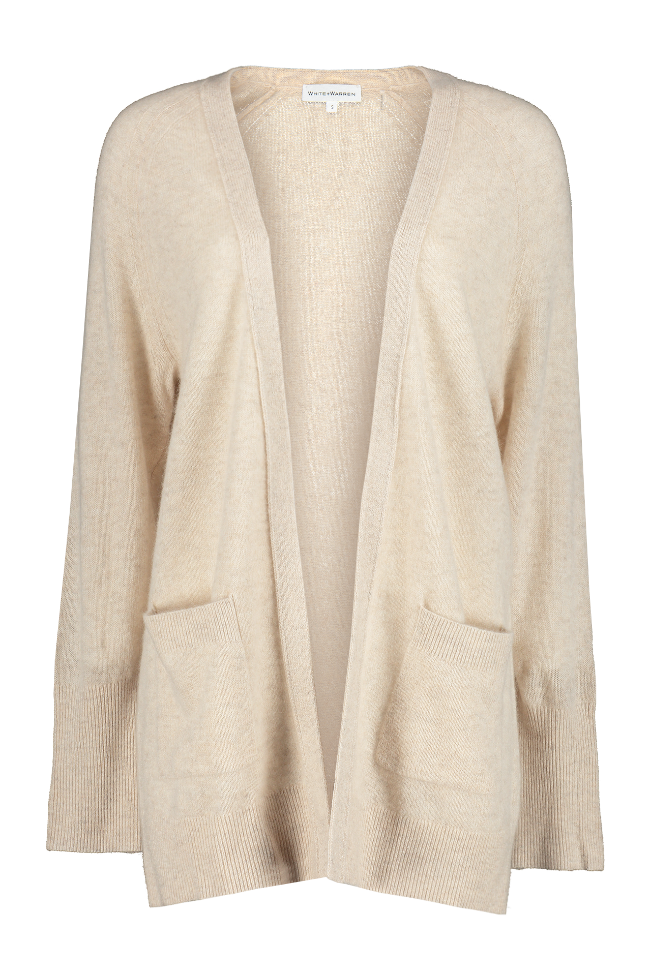 Cashmere Patch Pocket Open Cardigan
