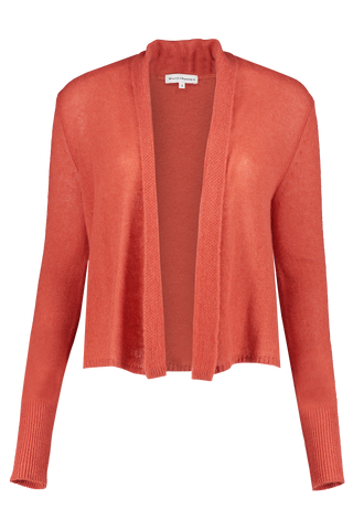 Cropped Swing Cardigan Terracotta Heather