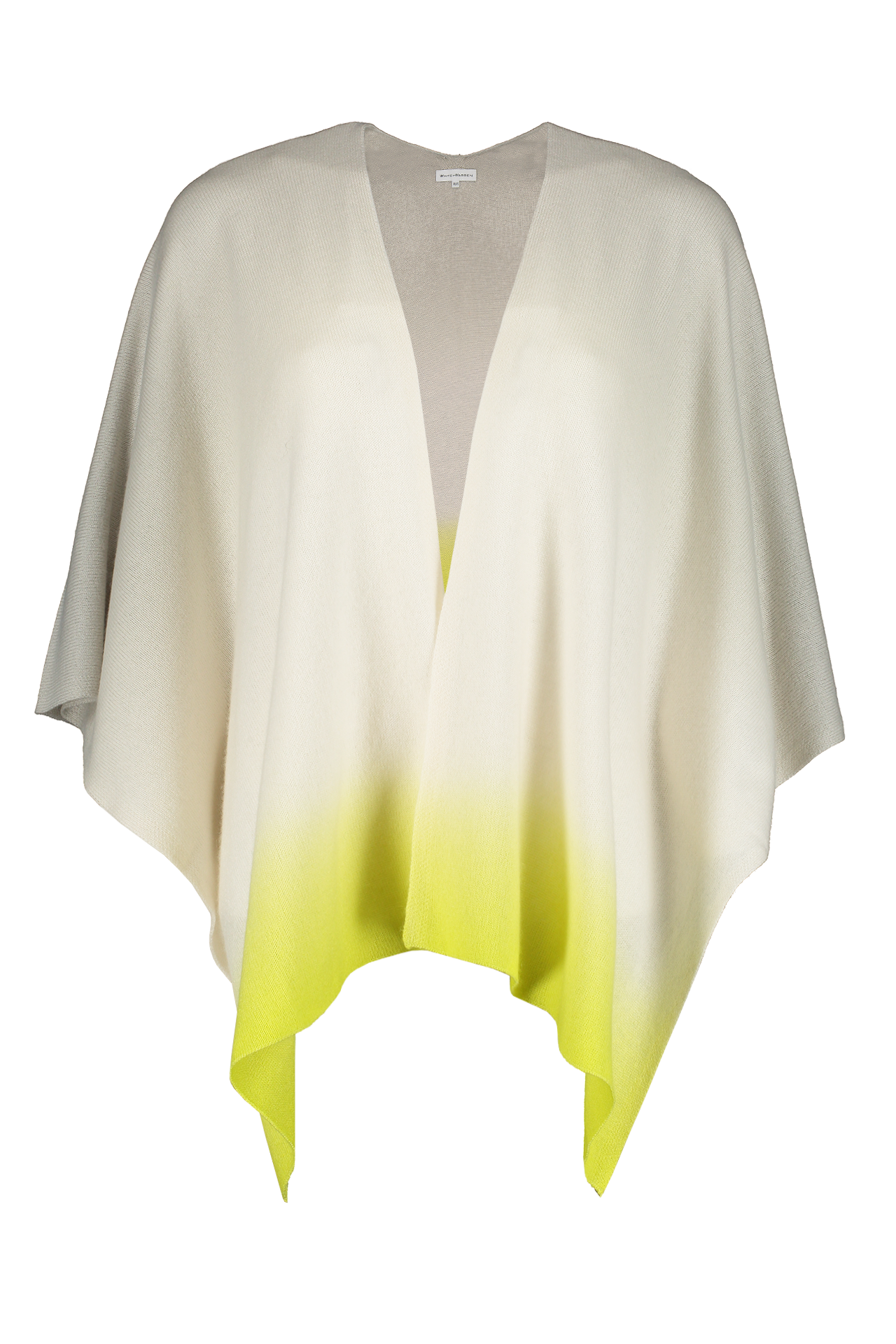 Dip Dye Poncho Light Grey