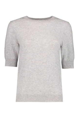 Elbow Sleeve Crew Neck Tee