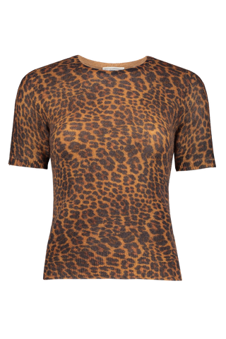 Essential Fitted Tee Leopard